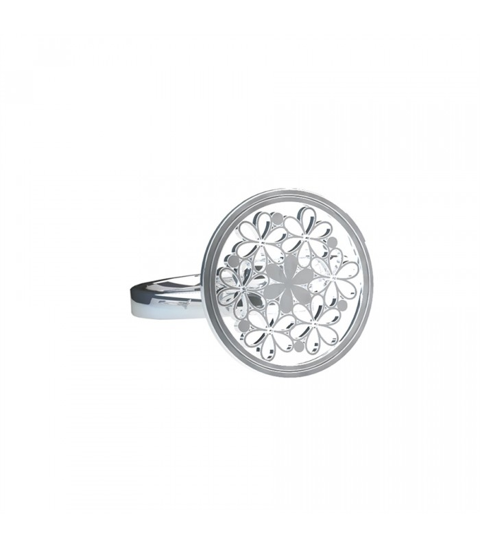 Bouquet of Lilies Silver Ring