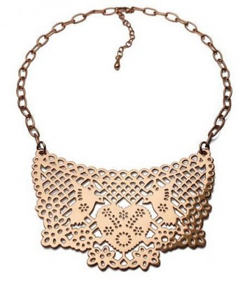 Papel Picado Pink Gold Pendant with Chain