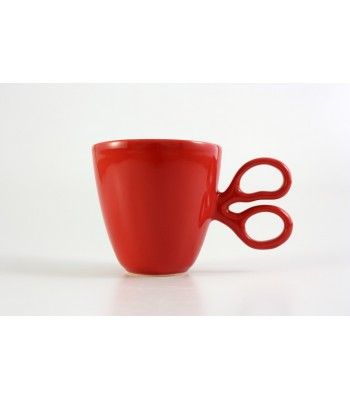 Scissor Mug in Red