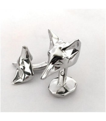 Fox Sterling Silver Cufflinks