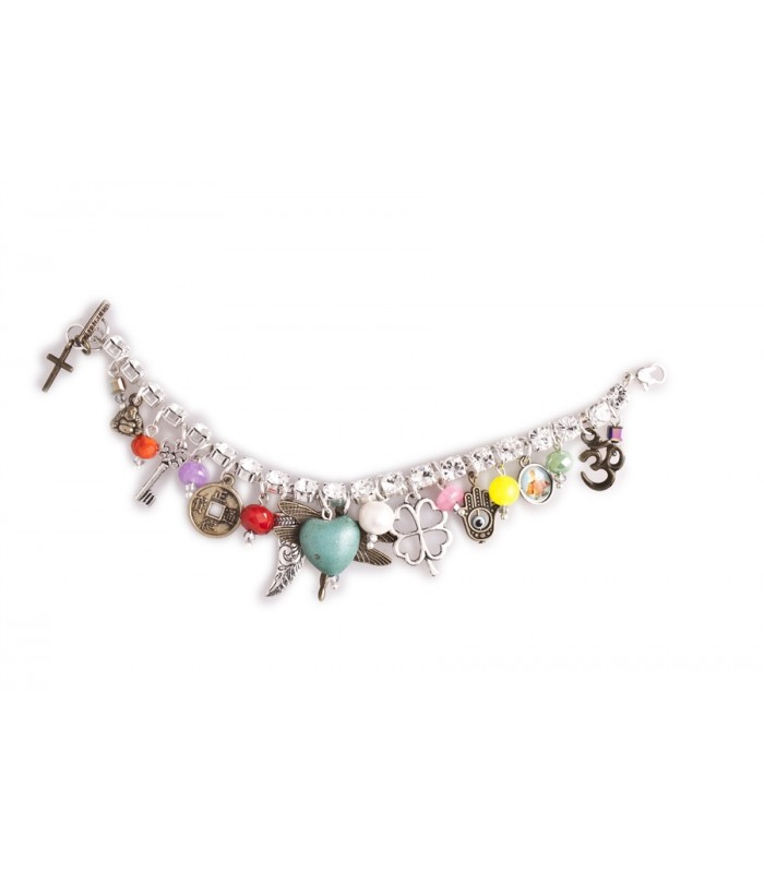 Charms on a Crystal Bracelet