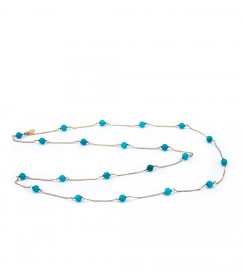 Aqua Stones Long Necklace