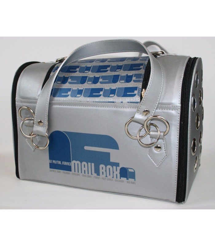 """USPS Eagles Grey Leather Carrier 10""""x14""""7"""""""