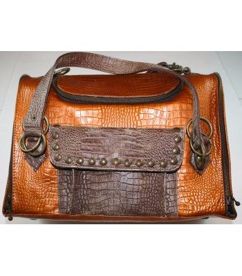 """Copper Leather Carrier 10""""x14""""7"""""""