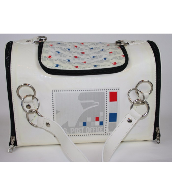 "USPS Eagles White Leather Carrier 10""x14""7"""