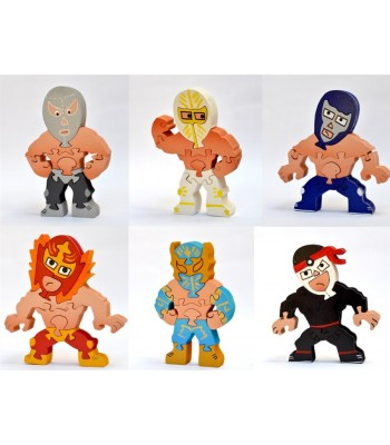 Luchadores Set of 6 Puzzles