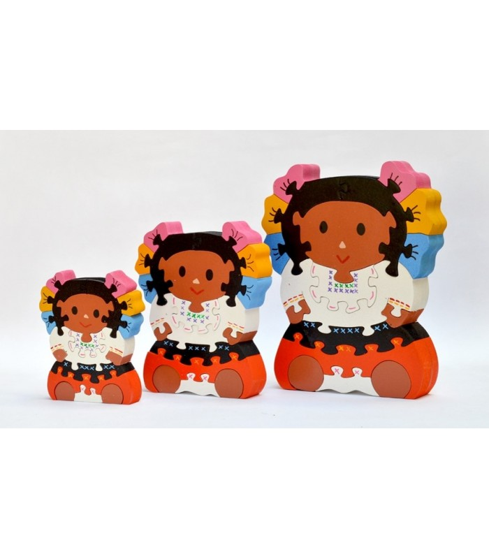 Mexican Doll Set of 3 Puzzles
