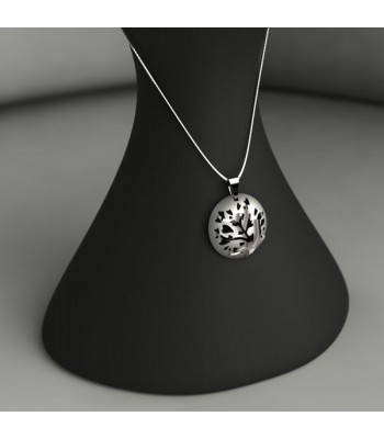 Tree of Love Pendant and Chain in Sterling Silver