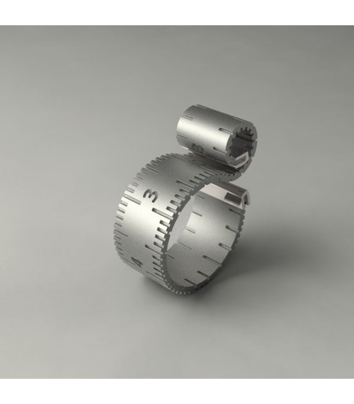 Sewing Tape Measure Sterling Silver Ring