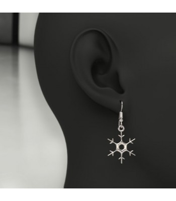 Snow Flake Sterling Silver Earrings