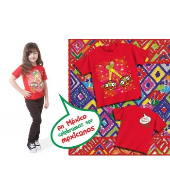 """In Mexico, We Celebrate Being Mexican"" T-shirt. Size 1Toddler"