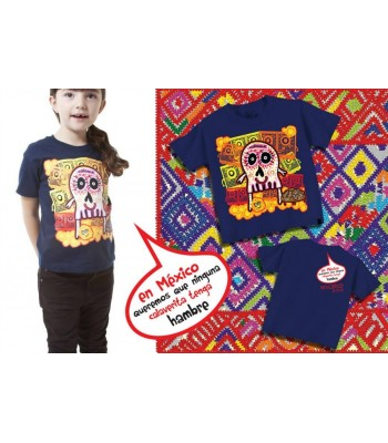"""In Mexico, We Don't Want Any 'Calaverita To Go Hungry"" T-shirt. Size 3 Toddler"