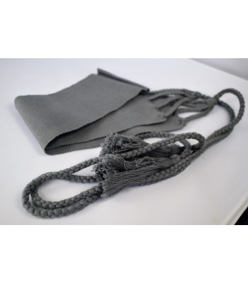 Gray cotton belt made with cotton, woven in a foot pedal loom