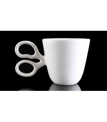 Scissor Mug in White