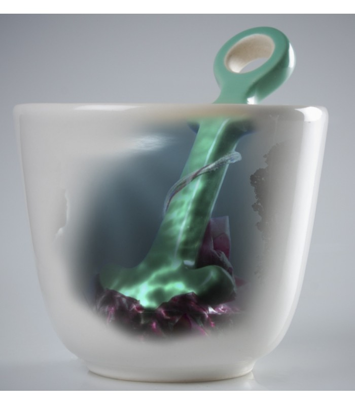 Anchor Tea Mug in Aqua