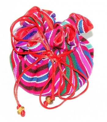 Oxhuc jewel bag, assorted colors, 100% cotton woven in a back strap loom.