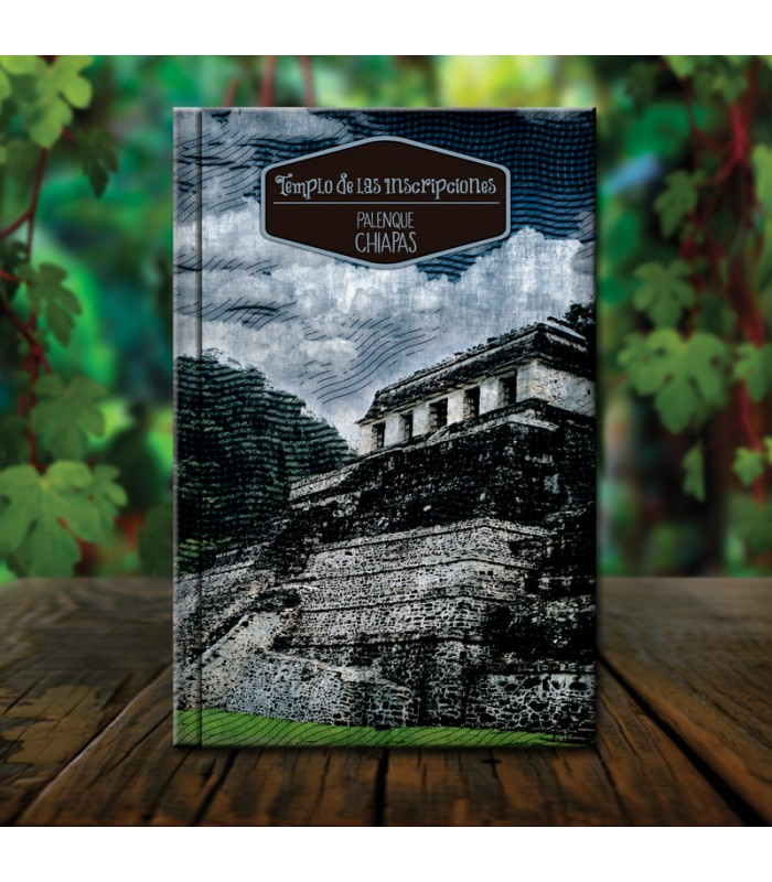 Palenque Palace collector's organic notebook with architectural designs from the state of Chiapas.