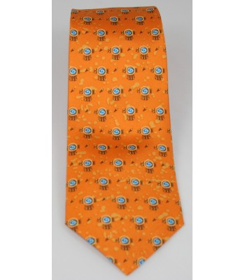 Chimali Pineda Covalin Silk Tie in Orange