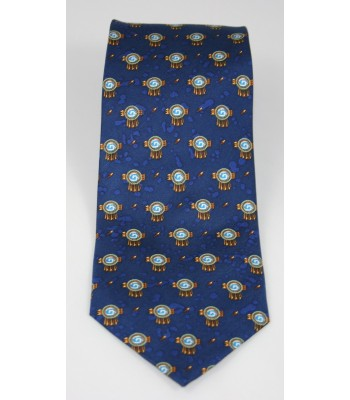 Chimali Pineda Covalin Silk Tie in Navy Blue