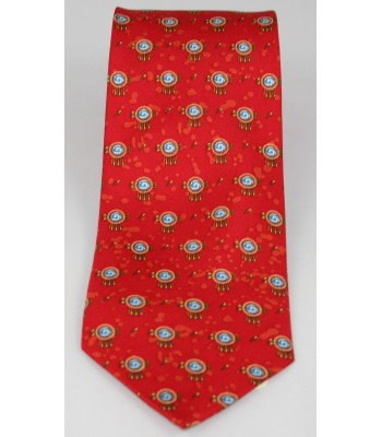 Chimali Pineda Covalin Silk Tie in Red