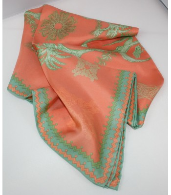 Corn Pineda Covalin Large Silk Scarf in Salmon