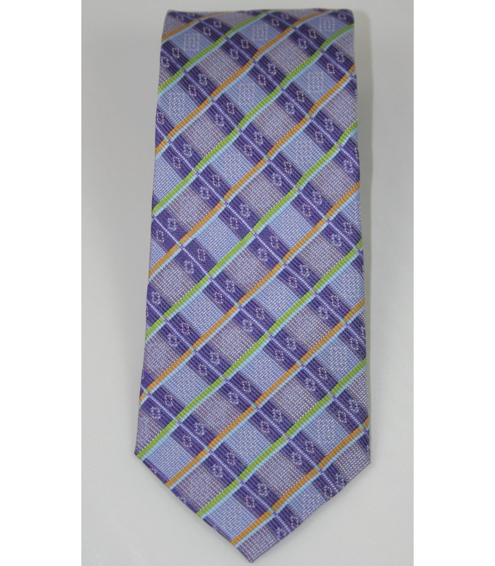 Bolsa de Mandado Pineda Covalin Jacquard Silk Tie in Purple