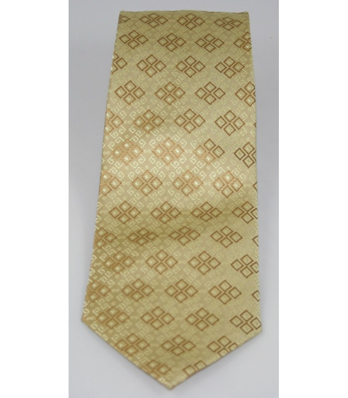 Embroideries from Oaxaca Pineda Covalin Silk Jacquard Tie in Gold
