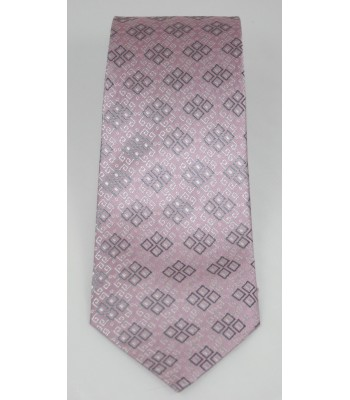 Embroideries from Oaxaca Pineda Covalin Silk Jacquard Tie in Pink