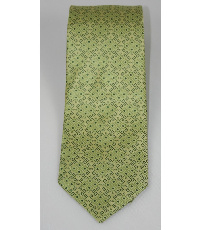 Embroideries from Oaxaca Pineda Covalin Silk Jacquard Tie in Olive Green