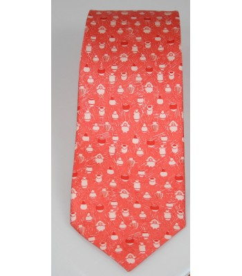 Pottery Pineda Covalin Silk Tie in Coral