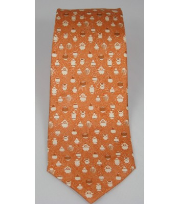 Pottery Pineda Covalin Silk Tie in Orange