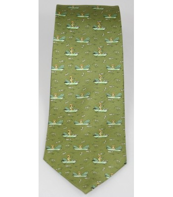 Patzcuaro Pineda Covalin Silk Tie in Green