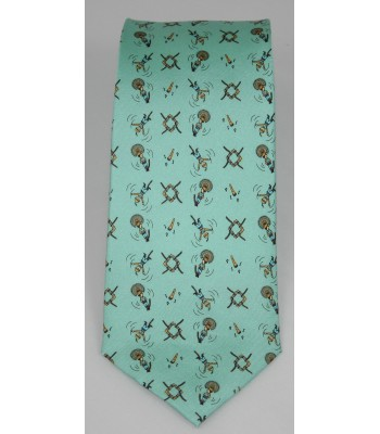 Papantla Pineda Covalin Silk Tie in Green