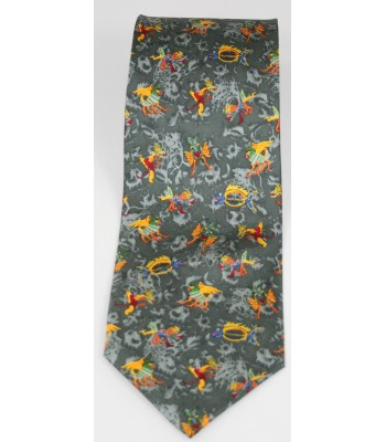Alebrijes Pineda Covalin Silk Tie in Grey