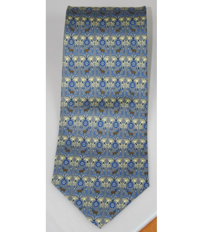 Huichol Pineda Covalin Silk Tie in Gray