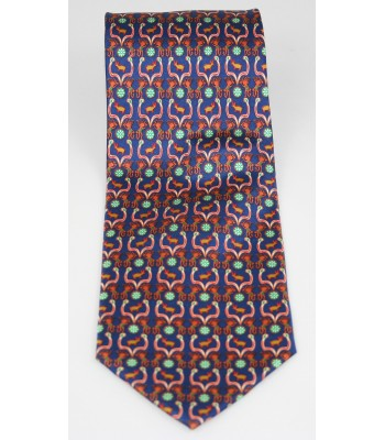 Huichol Pineda Covalin Silk Tie in Navy Blue