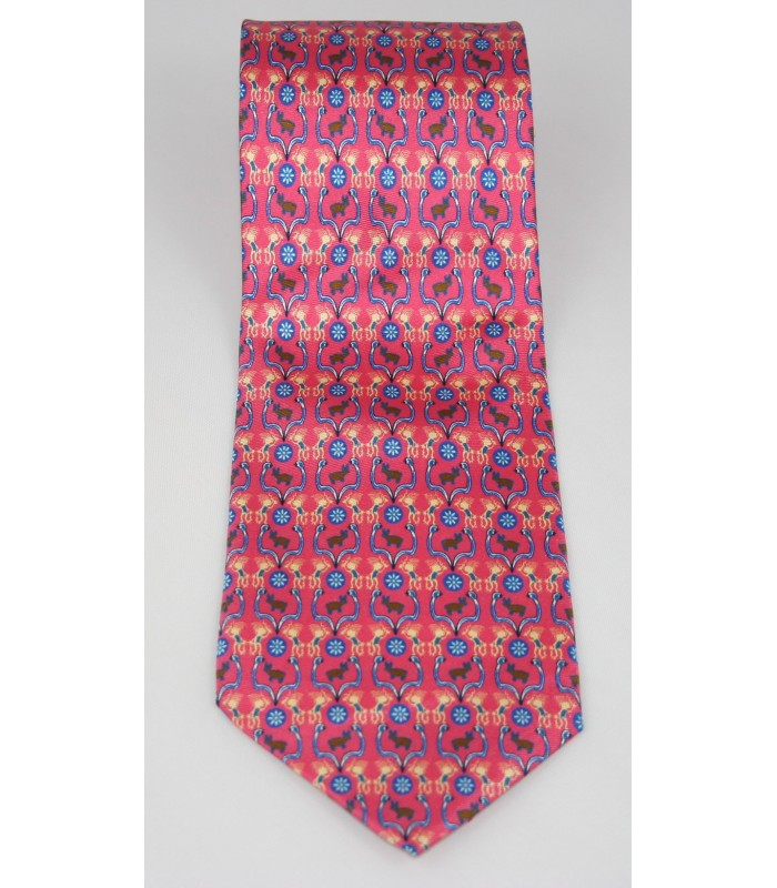 Huichol Pineda Covalin Silk Tie in Pink