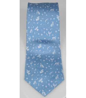 Olinala Pineda Covalin Silk Tie in Blue