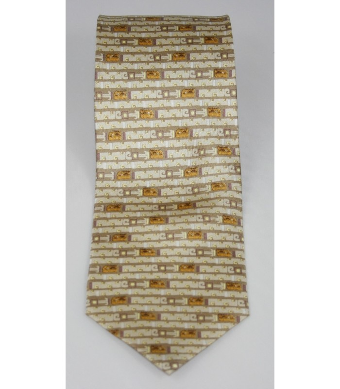 Jaguar Pineda Covalin Silk Tie in Light Brown