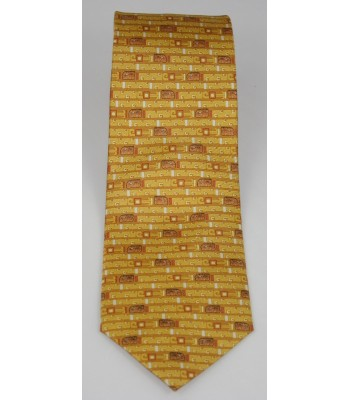 Jaguar Pineda Covalin Silk Tie in Yellow