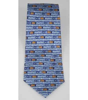 Jaguar Pineda Covalin Silk Tie in Blue