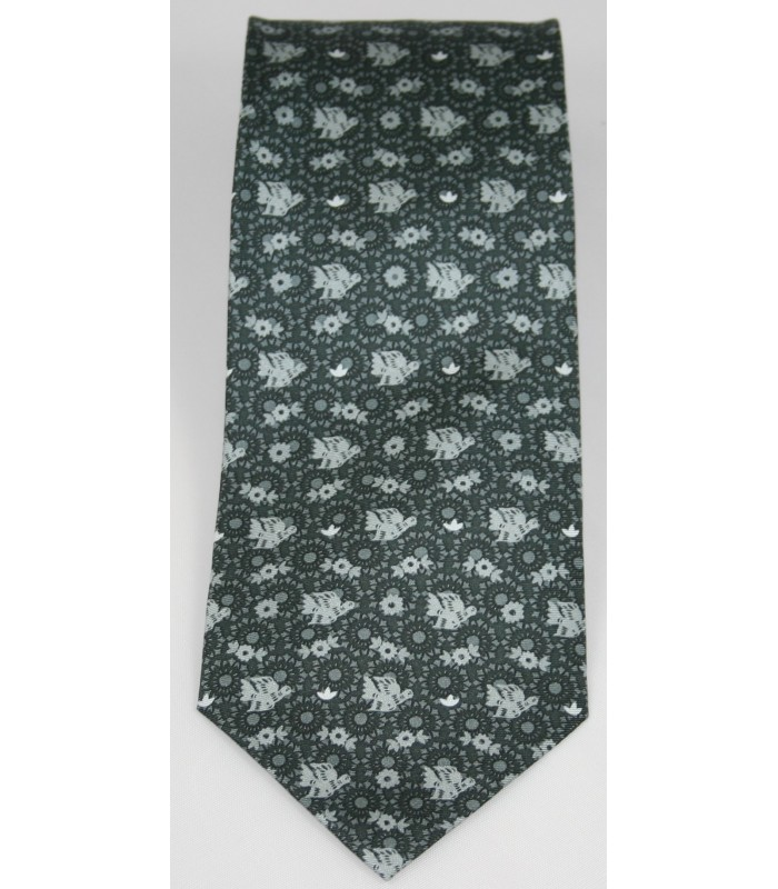 Papel Picado Pineda Covalin Silk Tie in Gray