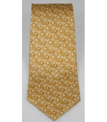 Mayan Writtings Pineda Covalin Silk Tie in Gold
