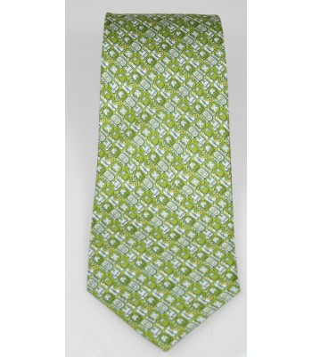Mayan Writtings Pineda Covalin Silk Tie in Green