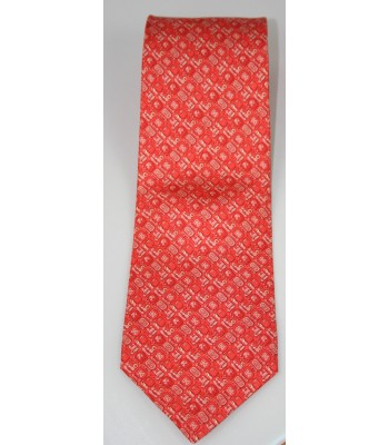 Mayan Writtings Pineda Covalin Silk Tie in Orange