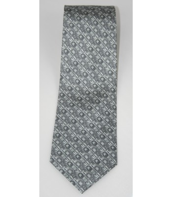 Mayan Writtings Pineda Covalin Silk Tie in Gray