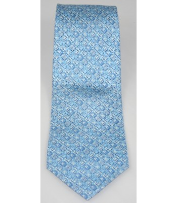 Mayan Writtings Pineda Covalin Silk Tie in Blue