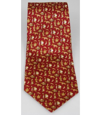 Milagritos Pineda Covalin Silk Tie in Red