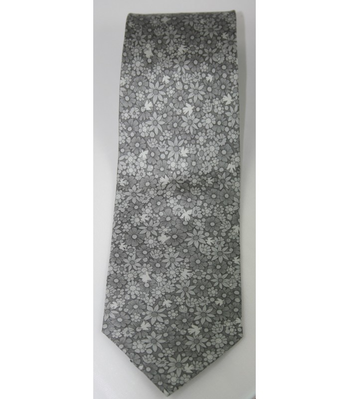 Tree of Life Pineda Covalin Silk Tie in Gray