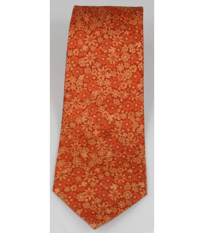 Tree of Life Pineda Covalin Silk Tie in Orange